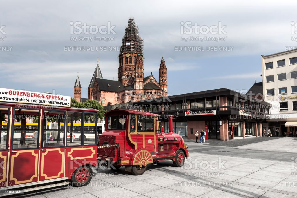 Mainz, Gutenbergplatz stock photo