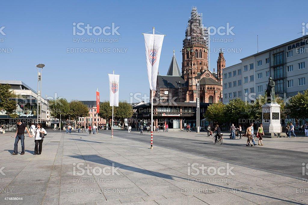 Mainz, Gutenbergplatz stock photo