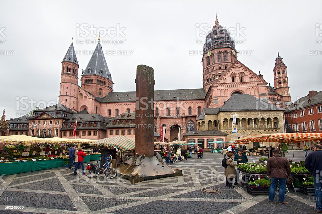 Mainz Market square stock photo