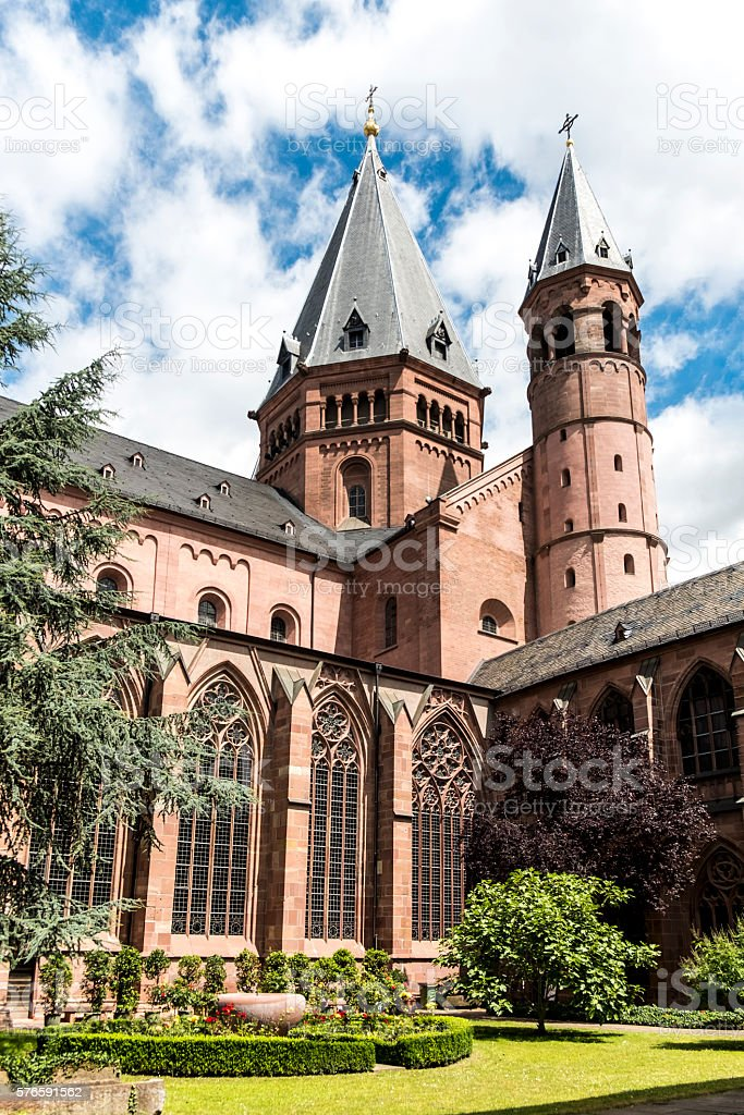 Mainzer Dom cathedral in Mainz stock photo