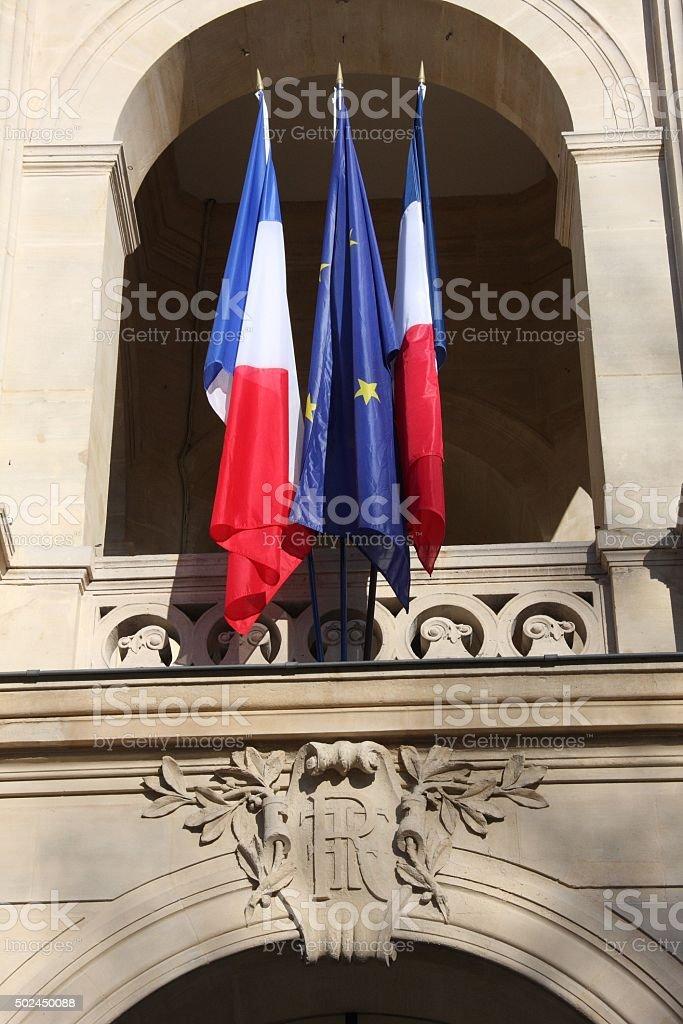 Mairie parisienne stock photo