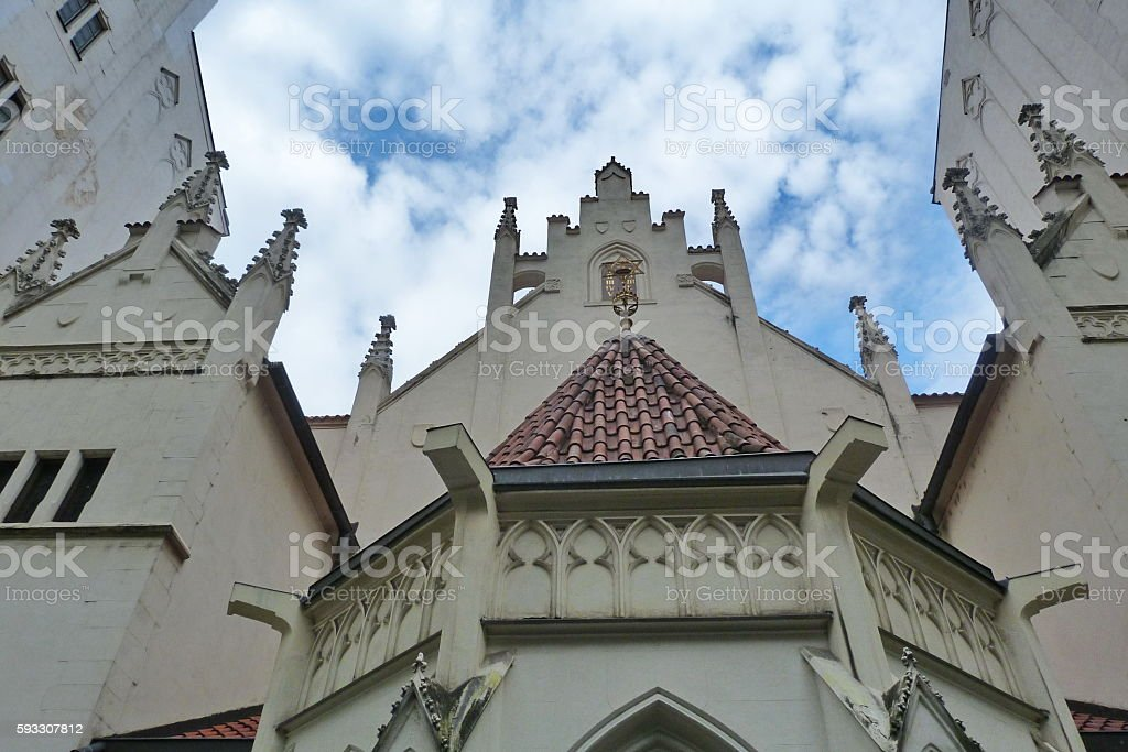 Maisel Synagogue In Prague stock photo