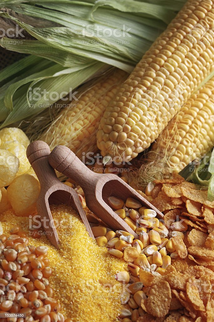 Maize products royalty-free stock photo