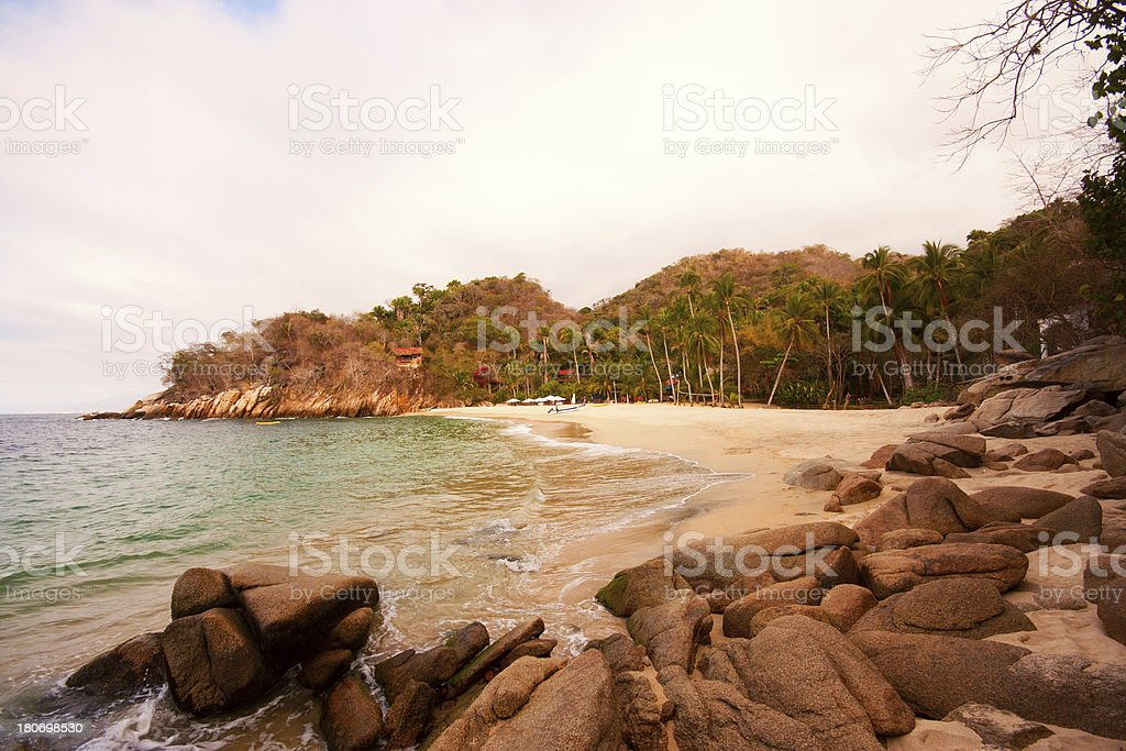Majahuitas Beach royalty-free stock photo