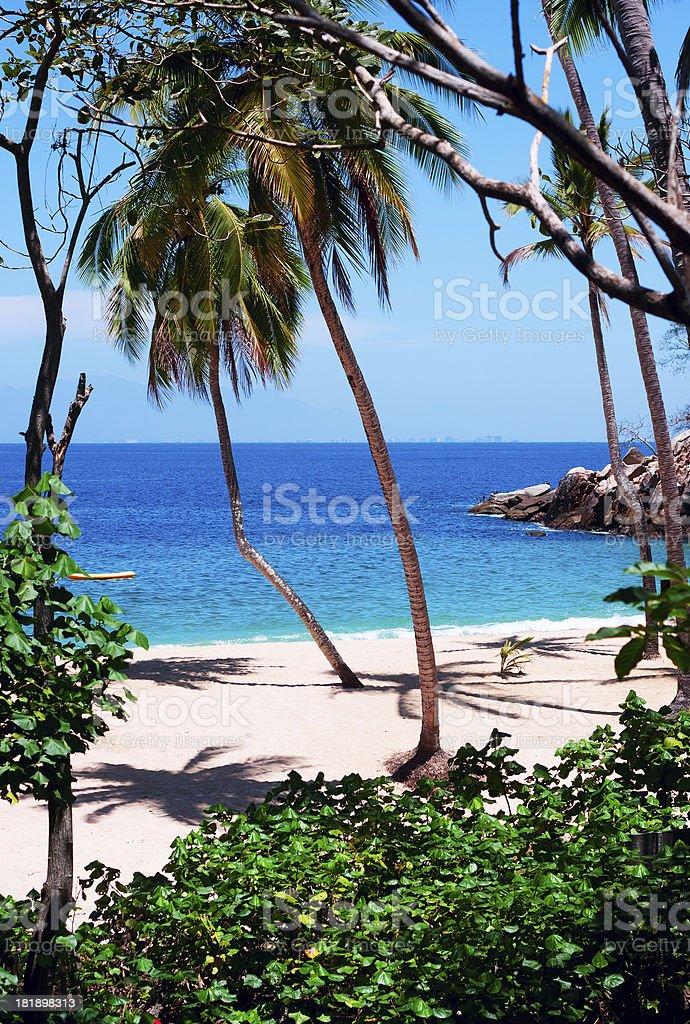 Majahuitas Beach royalty-free stock photo