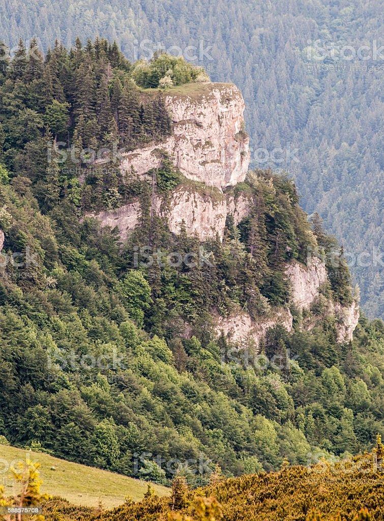 Majerova skala hill in Velka Fatra mountains stock photo