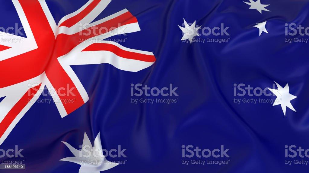 Majestic Australian Flag stock photo