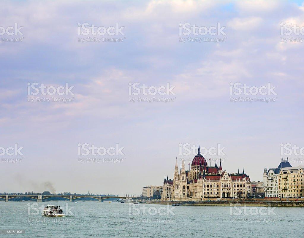 Majestueux bâtiment du Parlement de Budapest photo libre de droits