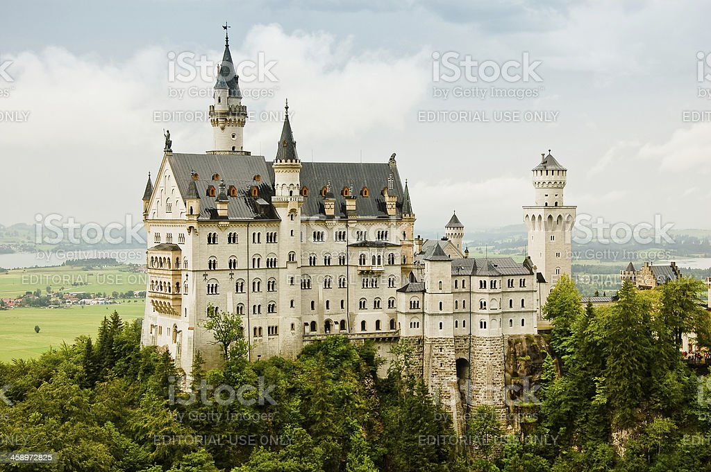 Majestic castle Neuschwanstein stock photo