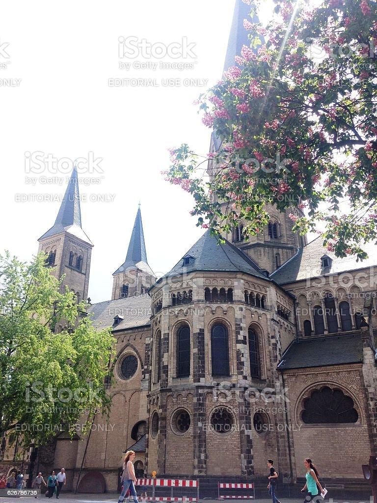 Majestic church in Bonn stock photo