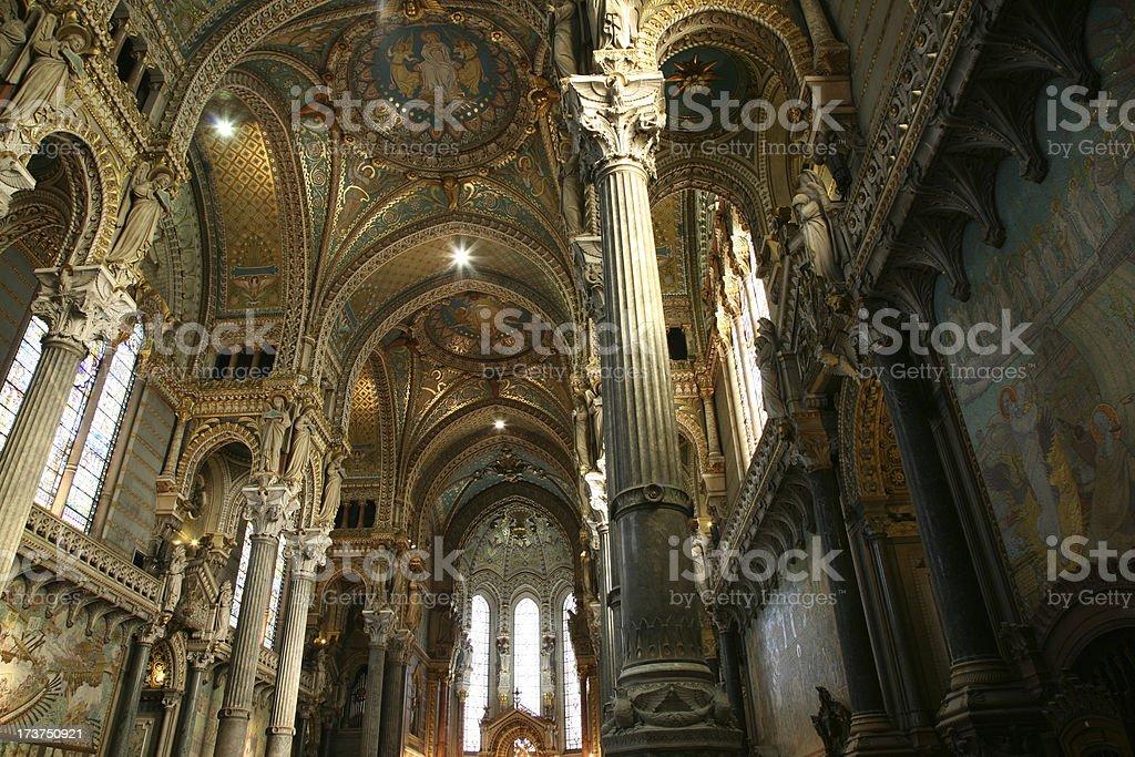Majestic Church Interior stock photo
