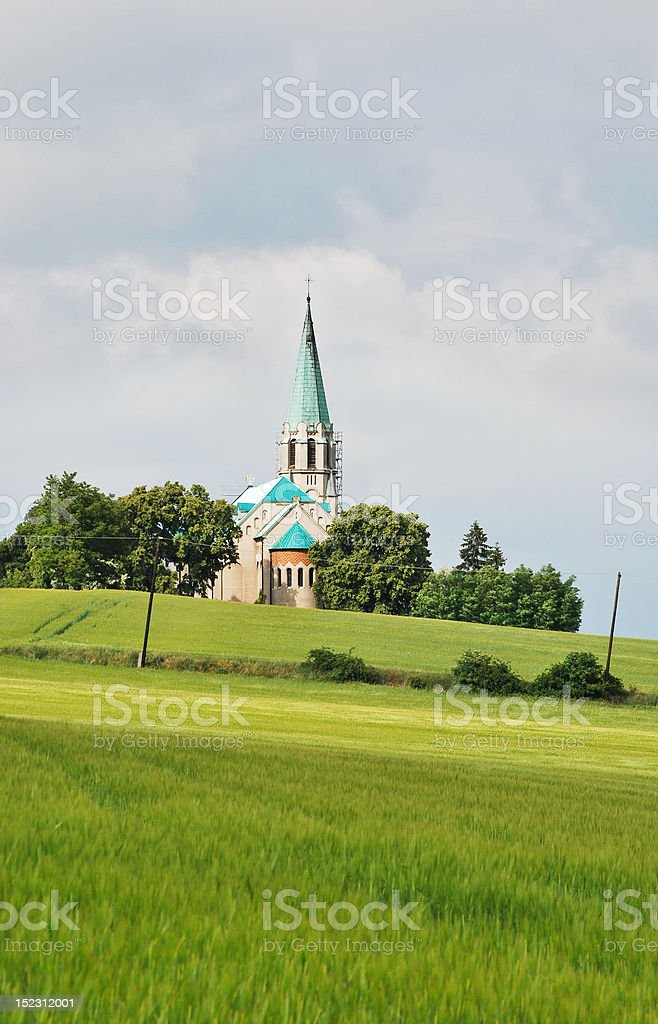 Majestic church stock photo