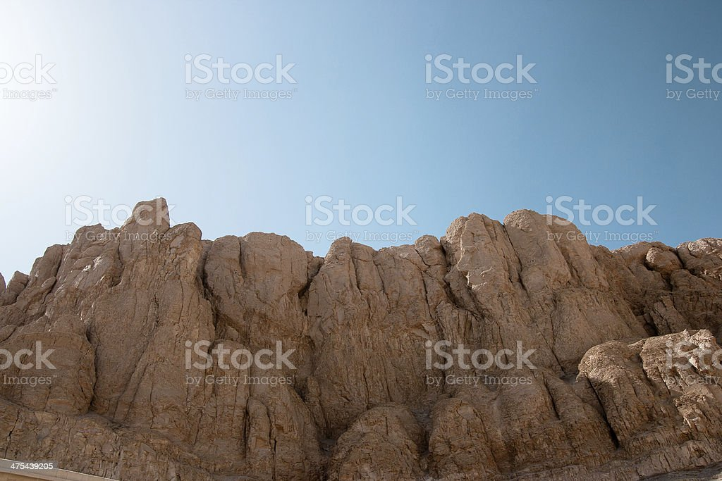 majestic cliffs in the desert stock photo