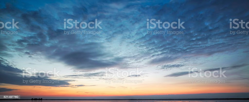 Majestic cloudscape at dusk stock photo