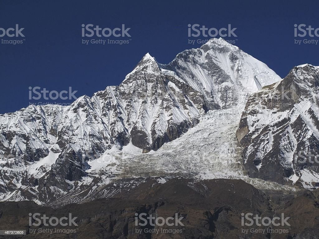 Majestic Dhaulagiri royalty-free stock photo