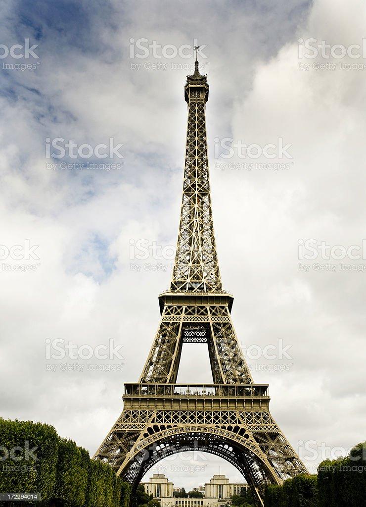 Majestic Eiffel Tower royalty-free stock photo