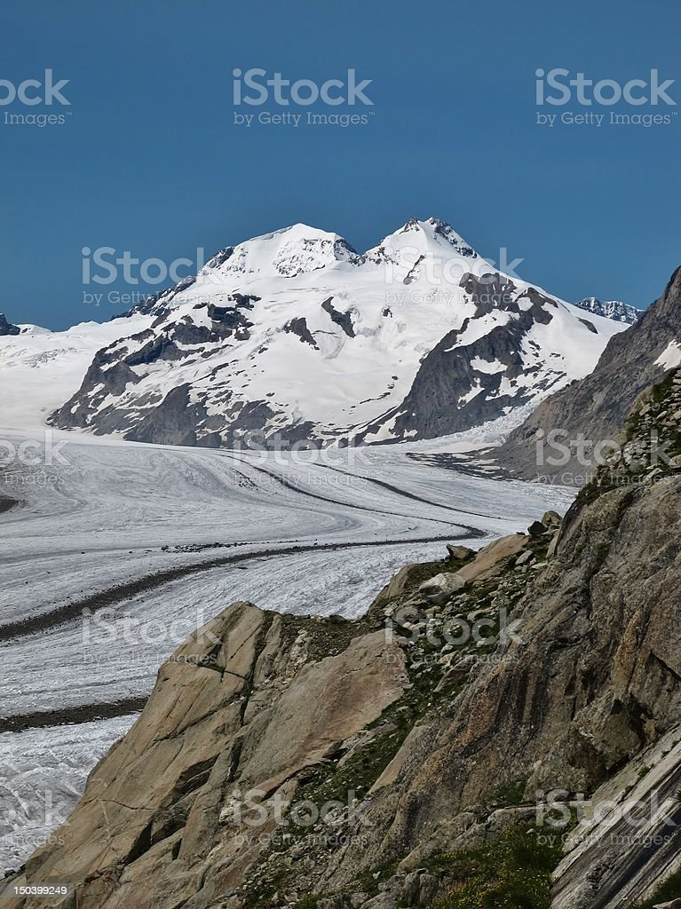Majestic Eiger and Monch. royalty-free stock photo