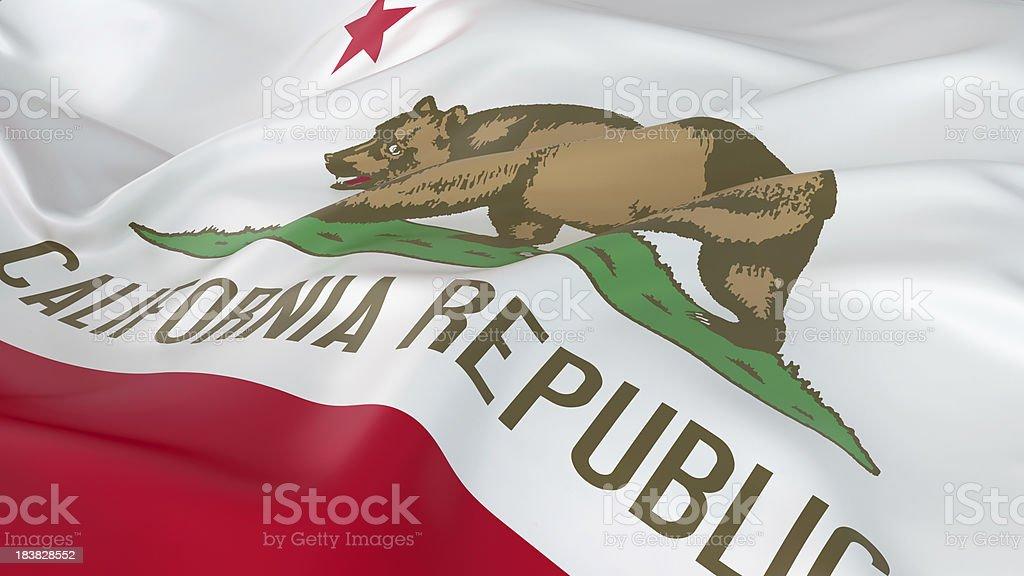 Majestic Flag of California stock photo