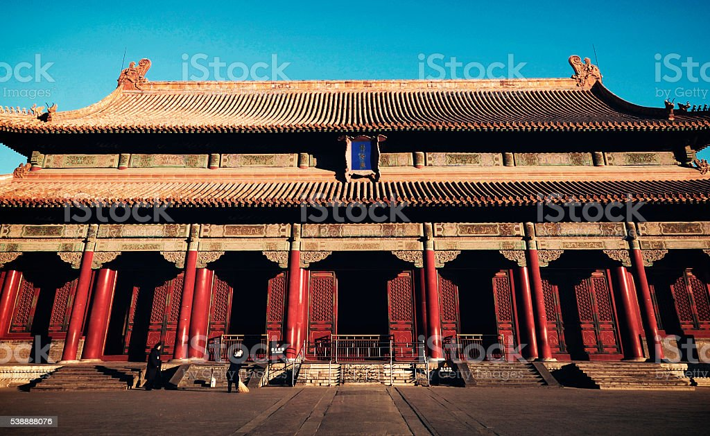 Majestic Forbidden City Beijing China Ancient Temple Concept stock photo