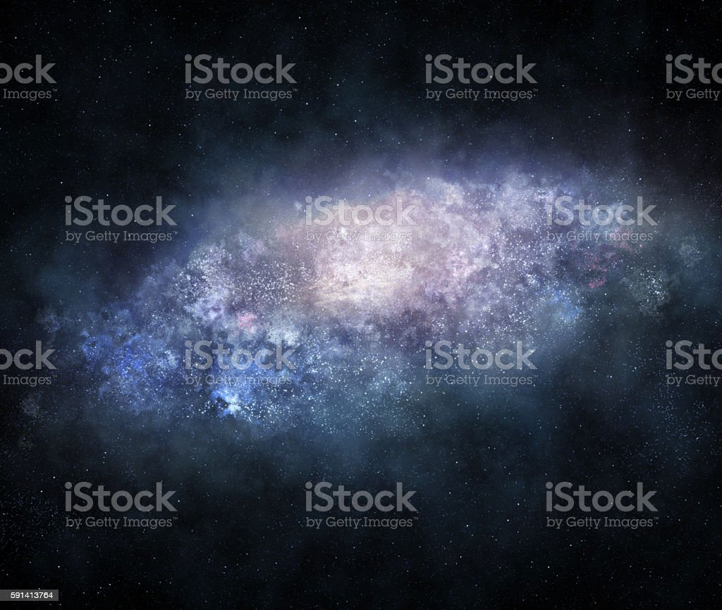 Majestic galaxy stock photo