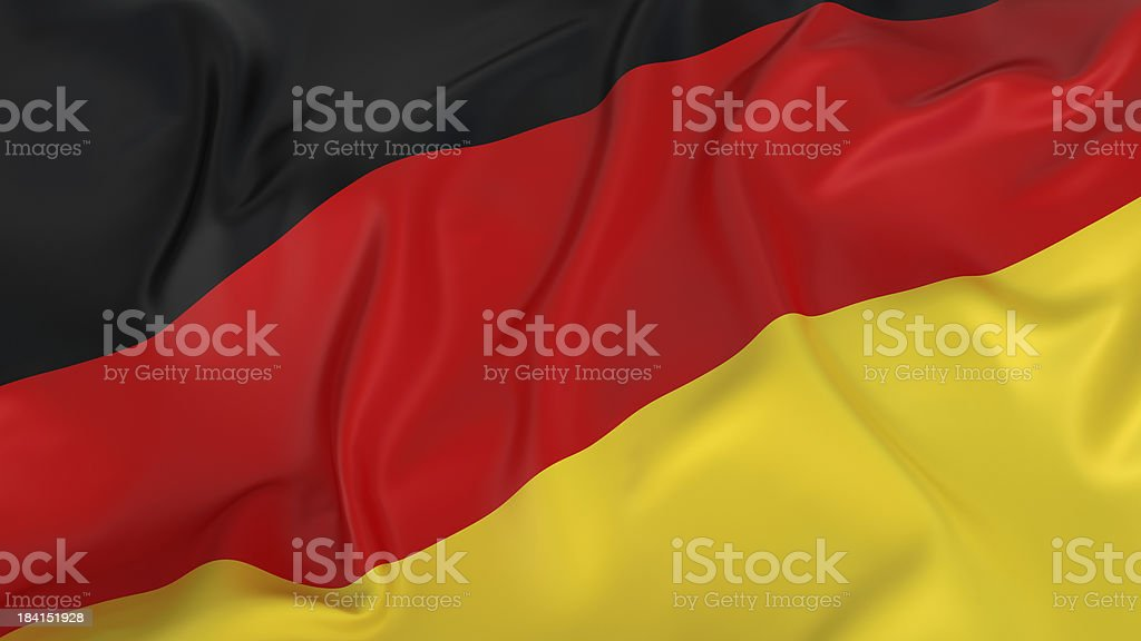 Majestic Glossy German Flag royalty-free stock photo