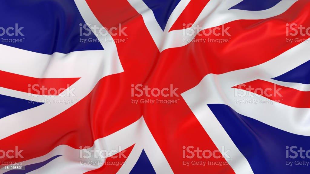 Majestic Glossy UK Flag royalty-free stock photo