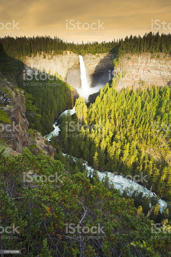 Majestic Helmcken Falls (vertical) stock photo