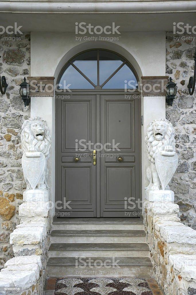 Majestic home porch stock photo
