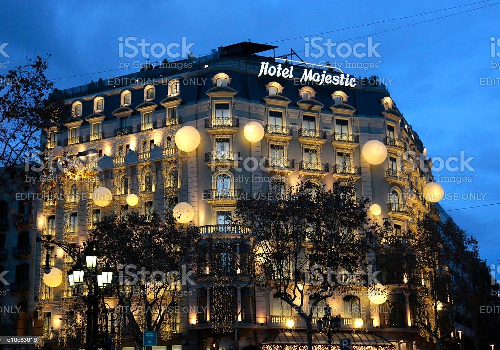 Majestic Hotel, Passeig de Gracia, Barcelona, Catalunia, Spain stock photo