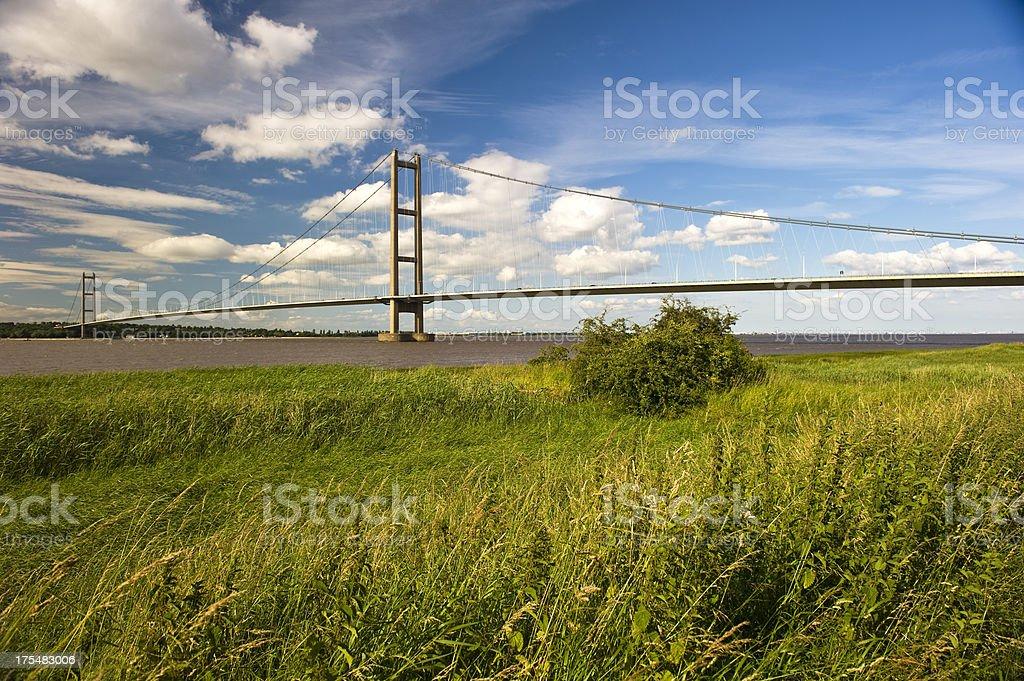 Majestic Humber Bridge stock photo