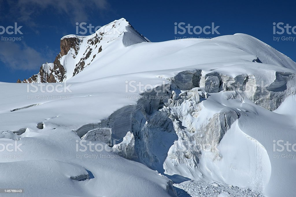 Majestic ice-fall in high mountains royalty-free stock photo