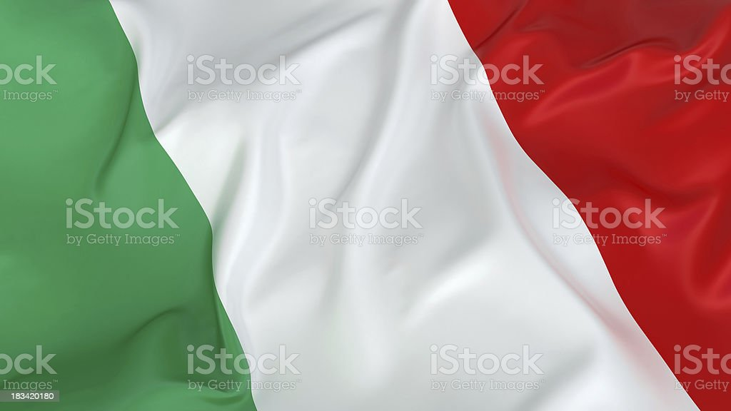 Majestic Italian Flag stock photo