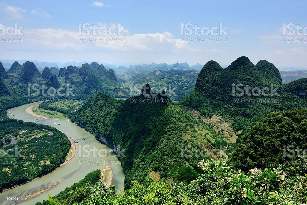 Majestic lijiang karst peak-forest landform 009 stock photo