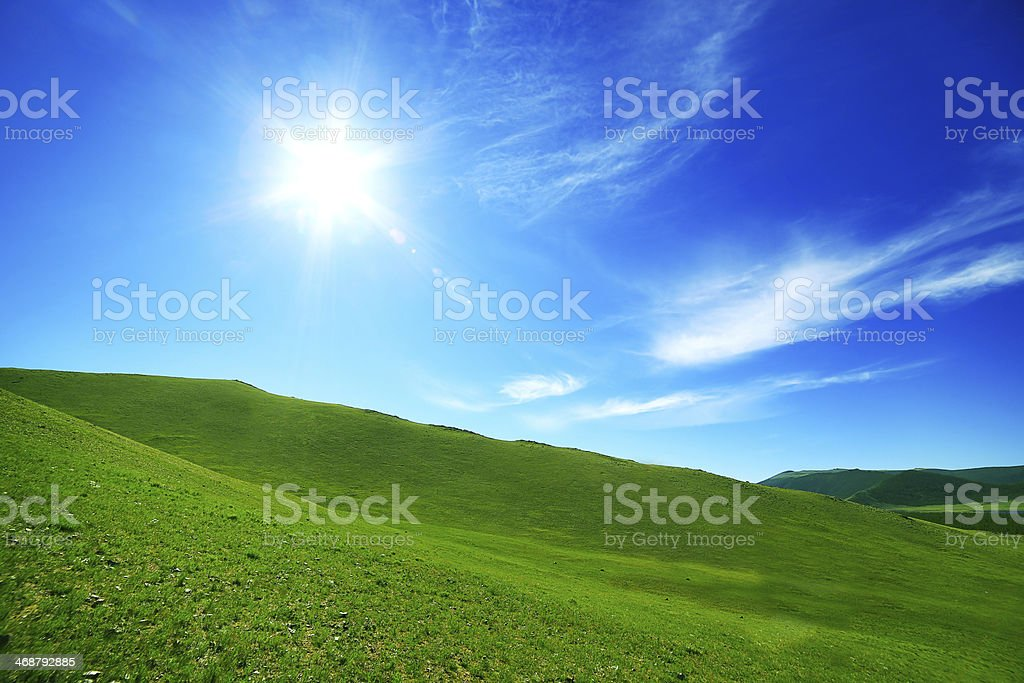 Majestic Mongolian landscape stock photo