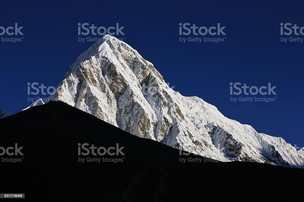 Majestic mount Pumori stock photo