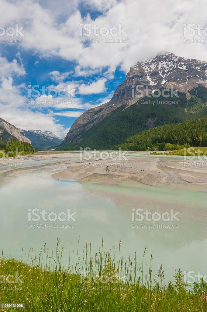 Majestic Mount Stephen Landscape stock photo