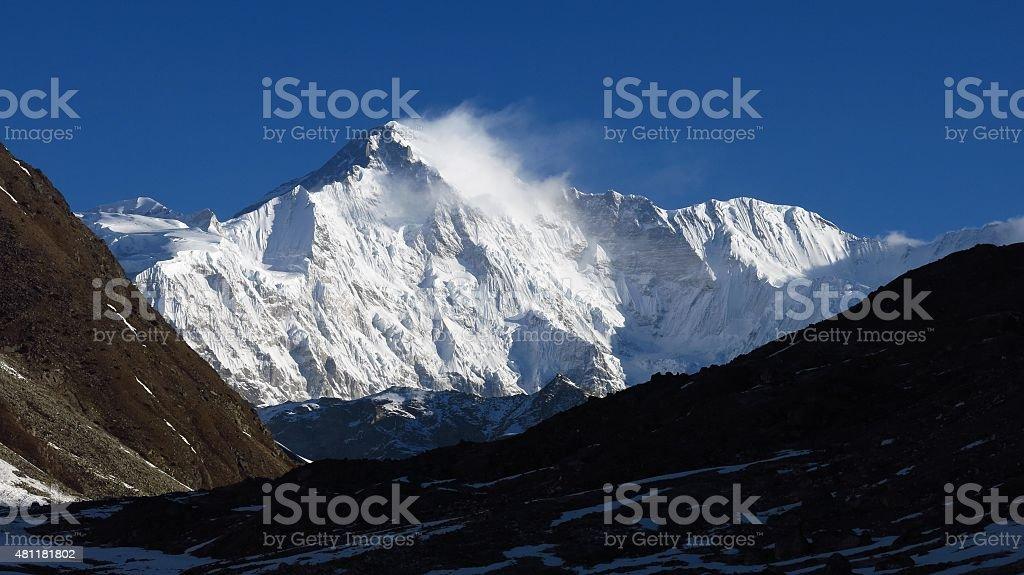 Majestic mountain Cho Oyu stock photo