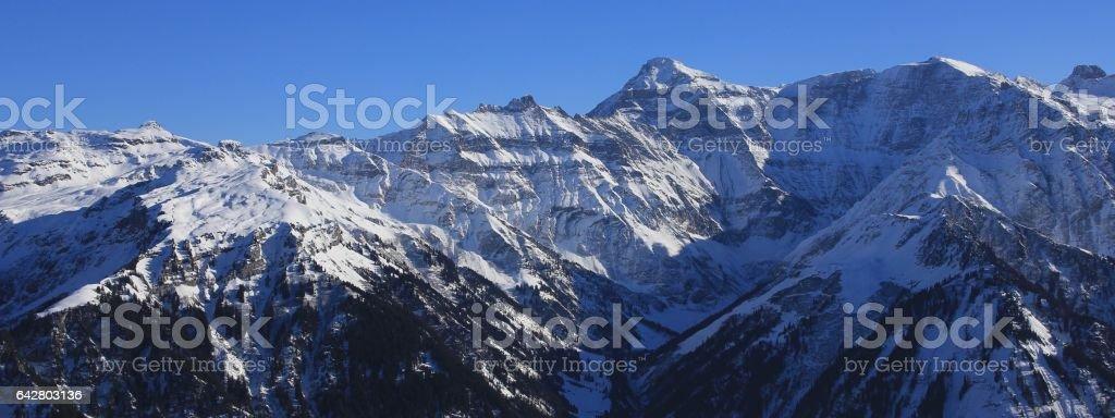 Majestic mountain Hausstock in winter stock photo