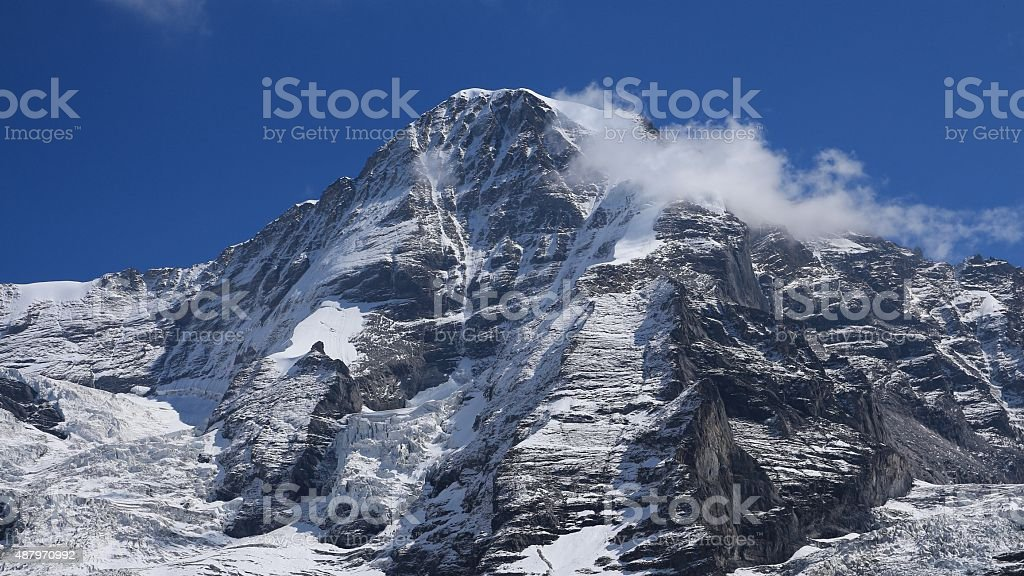 Majestic mountain Monch stock photo