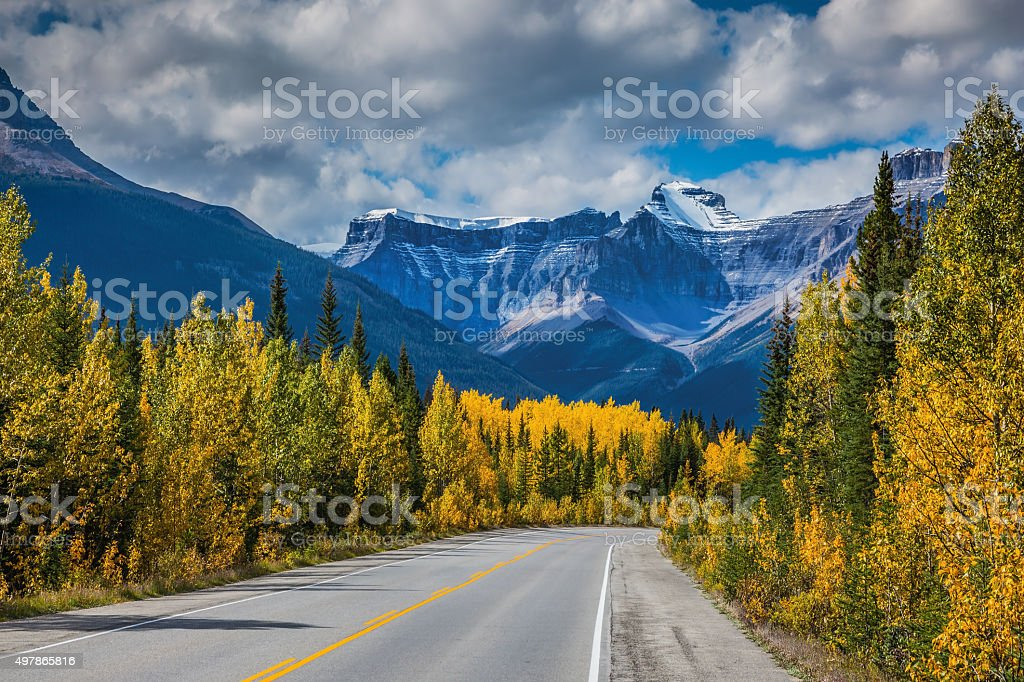 Majestic mountains and glaciers stock photo