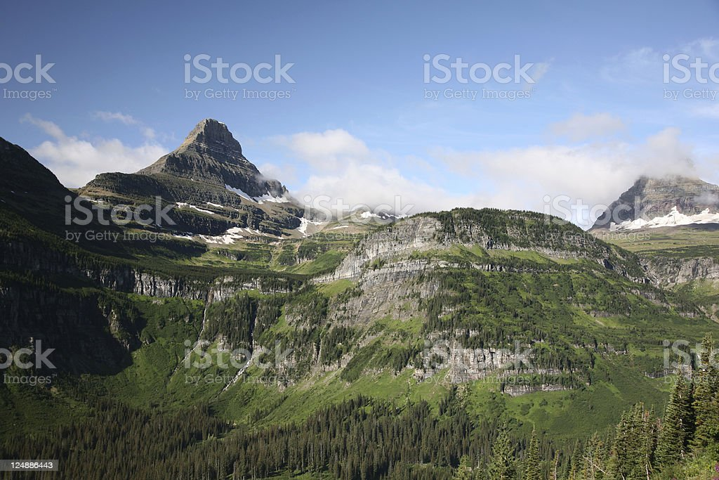 Majestic Mountains, Glacier National Park royalty-free stock photo