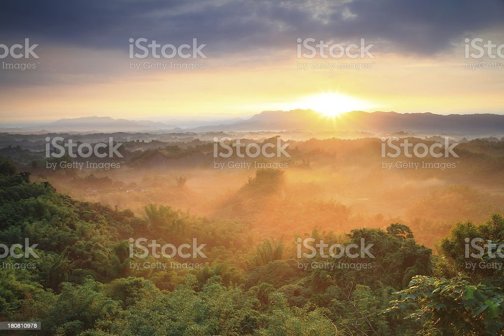 Majestic mountains landscape in the morning royalty-free stock photo