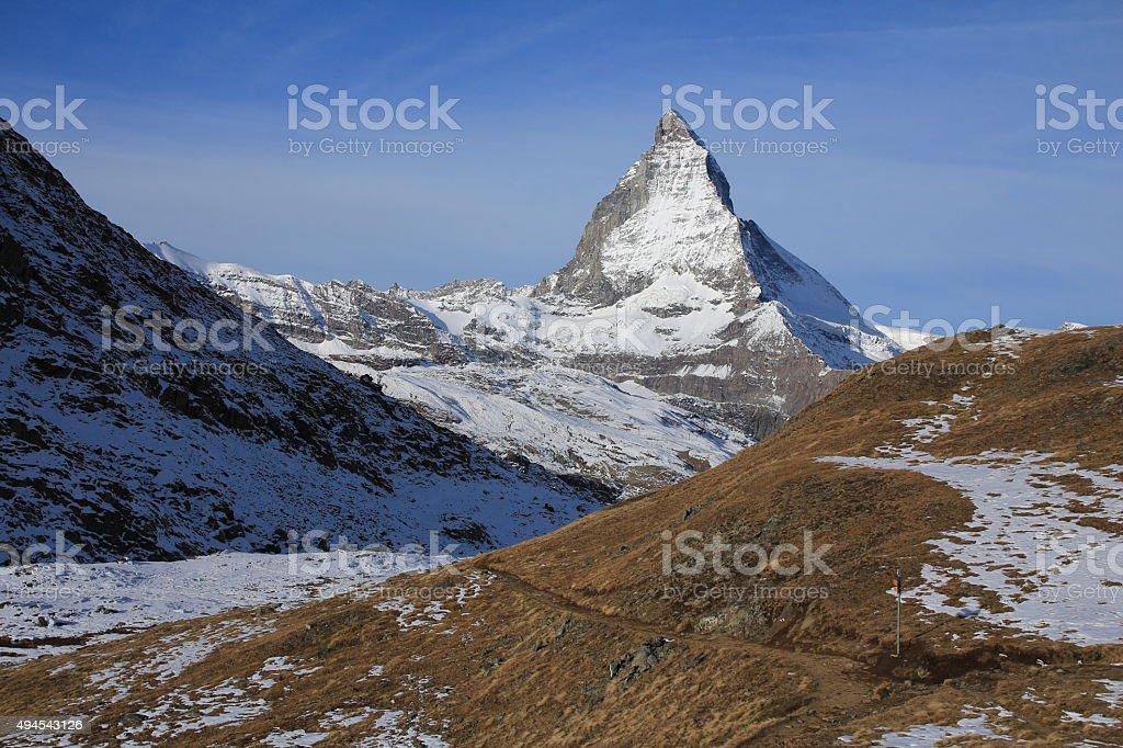 Majestic Mt Matterhorn stock photo