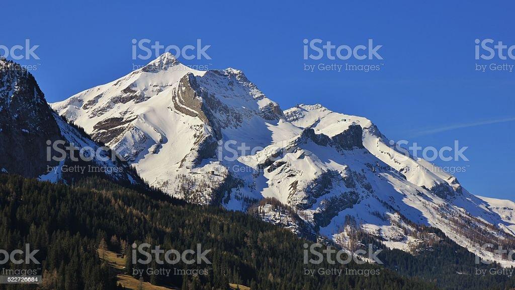 Majestic Mt Oldenhorn in spring stock photo