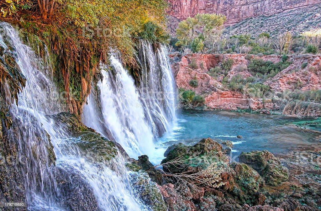 Majestic Navajo Falls stock photo