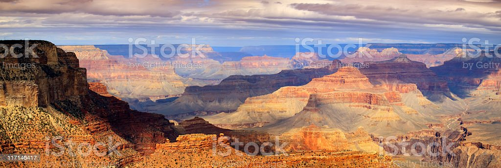Majestic Panoramic Scenic South Rim Grand Canyon National Park Arizona royalty-free stock photo