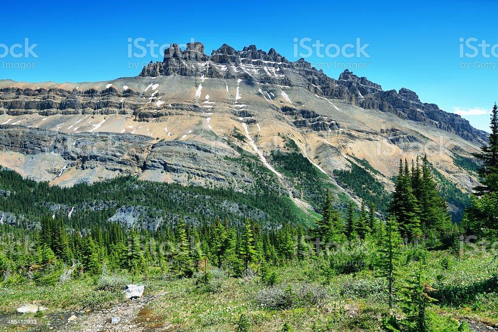 Majestic peaks in Helen lake trail stock photo