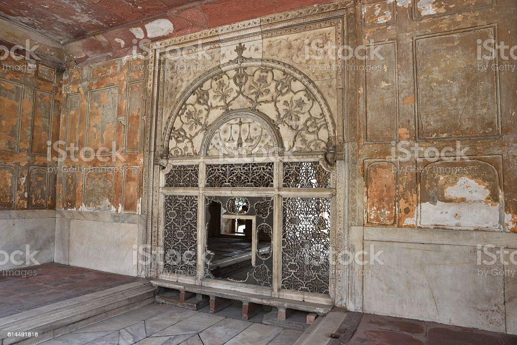Majestic Red Fort  Delhi India stock photo