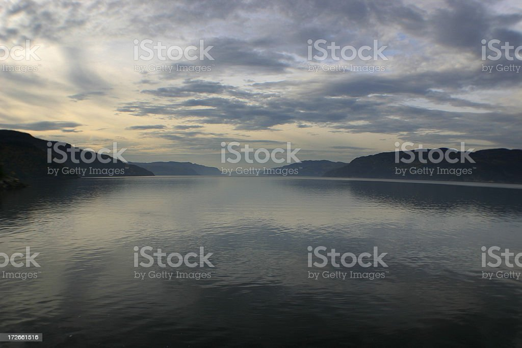 Majestic Saguenay Fjord at Sunset royalty-free stock photo