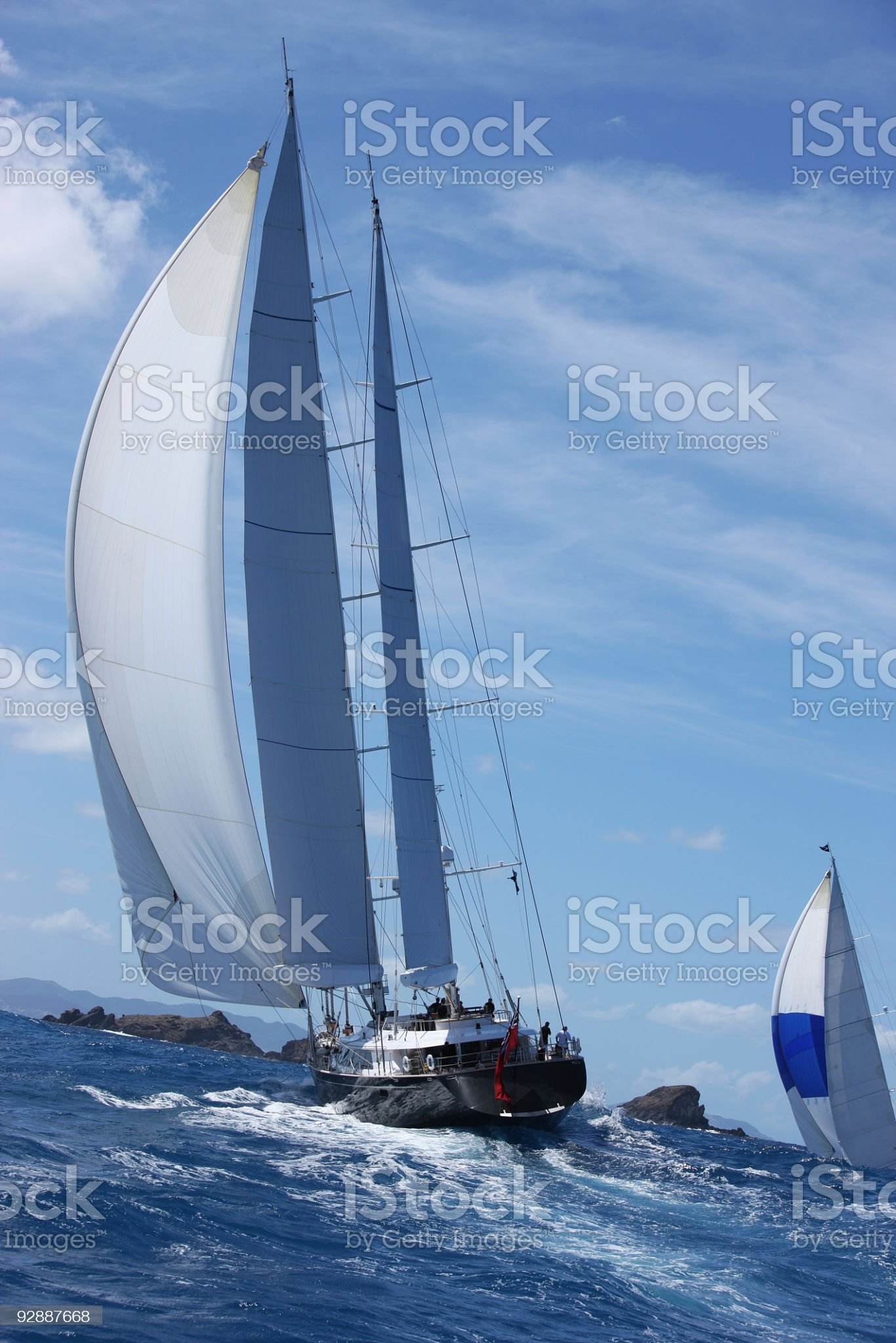 Majestic sail boats in competition royalty-free stock photo